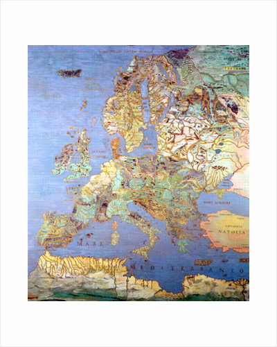 Map of Sixteenth Century Europe by Giovanni de' Vecchi