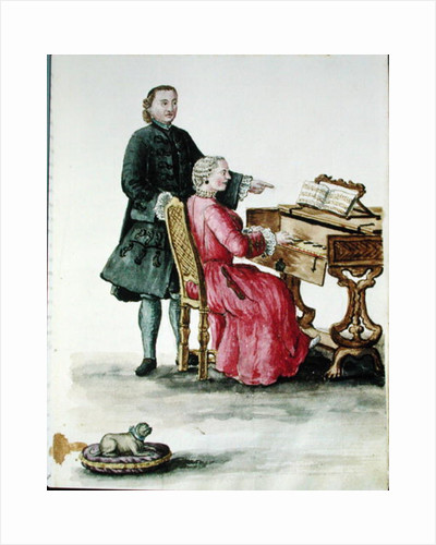 A Singer at the Clavichord with her Teacher by Jan van Grevenbroeck