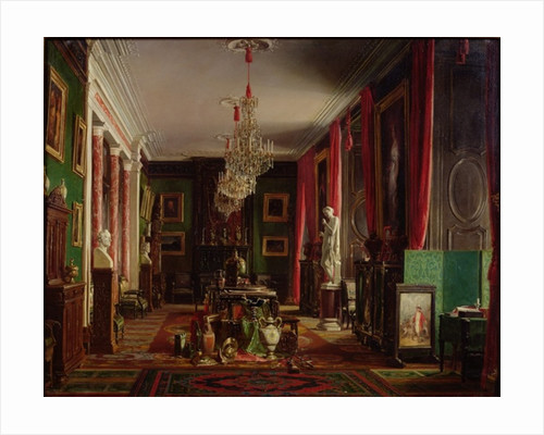 Interior of the Office of Alfred Emilien Count of Nieuwerkerke, Director General of the Imperial Museums, at the Louvre by Charles Giraud