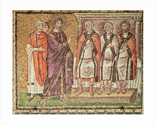 Jesus before Caiphus, Scenes from the Life of Christ by Byzantine School