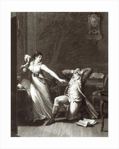 Illustration from 'The Sorrows of Werther' by Johann Wolfgang Goethe engraved by Jean Baptiste Simonet by Jean Michel the Younger Moreau