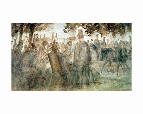Carriages and Promenaders on the Avenue des Champs-Elysses by Constantin Guys
