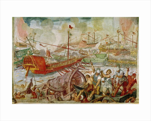 The Battle of Lepanto, October by Antonio Vassilacchi