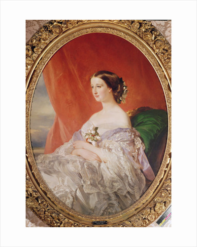 Empress Eugenie after a portrait by Francois Xavier Winterhalter by Jean Baptiste Ange Tissier
