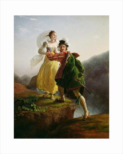 Bianca Cappello Fleeing with her lover Francesco de Medici by Louis Ducis