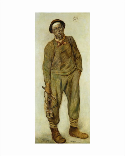 A Miner by Constantin Emile Meunier