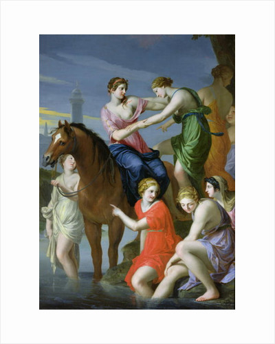 Clelia Crossing the Tiber by Jacques Stella