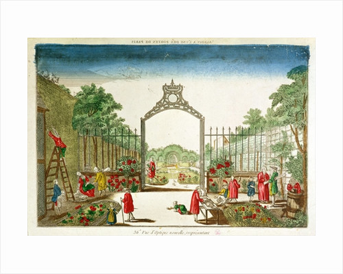 A Market Garden at One of the Gates of Paris by French School
