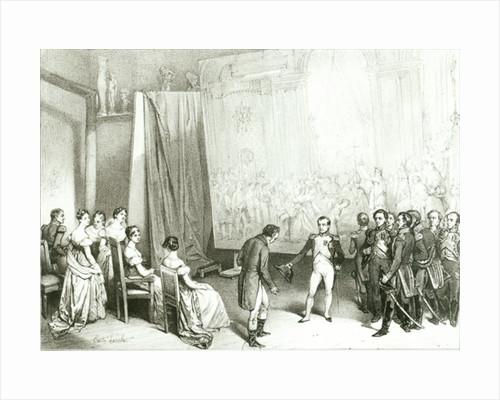Napoleon I Visiting the Studio of David by Emile Lassalle