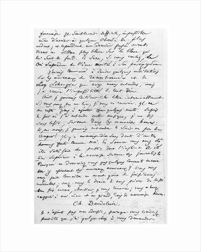 Letter to Richard Wagner by Charles Pierre Baudelaire