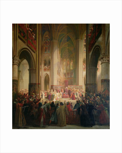 Estates General of Paris Meeting in Notre-Dame after the Death of Charles IV, 1st February 1328 by Jean Alaux