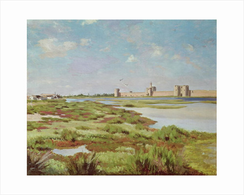 The City Walls of Aigues-Mortes by Jean Frederic Bazille