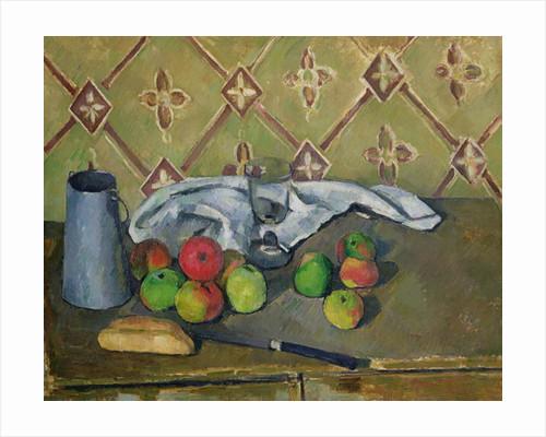 Fruit, Serviette and Milk Jug by Paul Cezanne