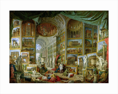 Gallery of Views of Ancient Rome by Giovanni Paolo Pannini or Panini