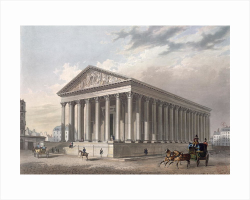 Exterior view of the Madeleine, Paris by Philippe Benoist