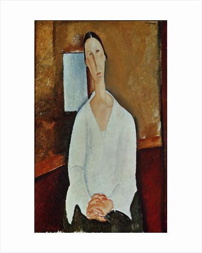 Madame Zborowska with Clasped Hands by Amedeo Modigliani