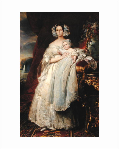 Helene-Louise de Mecklembourg-Schwerin, Duchess of Orleans with his son Count of Paris by Franz Xaver Winterhalter