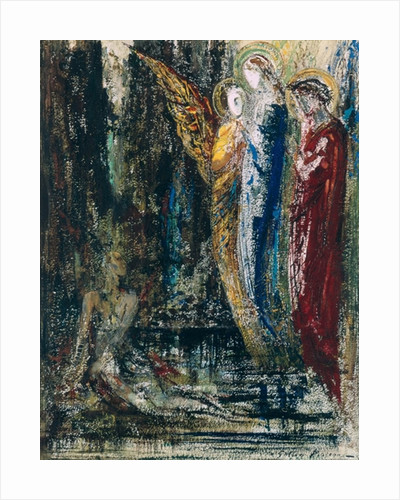 Job and the Angels by Gustave Moreau