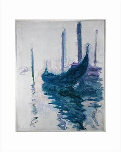 Gondolas in Venice by Claude Monet