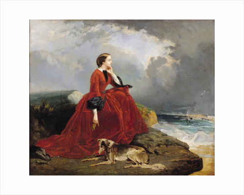 Empress Eugenie at Biarritz by E. Defonds