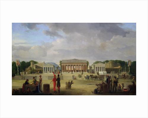 View of the Grand Theatre Constructed in the Place de la Concorde for the Fete de la Paix by Jean-Baptiste-Louis Cazin