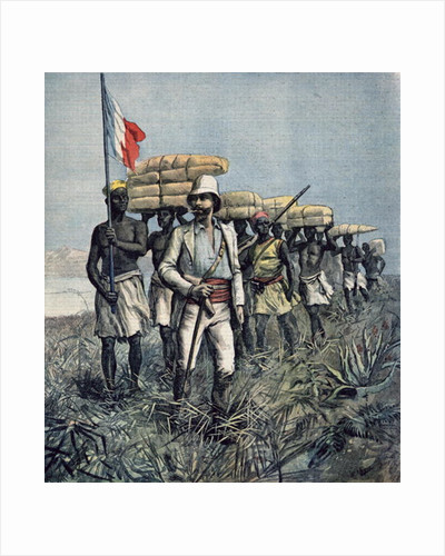 Lieutenant Mizon on his 1892 Mission of Exploration of the River Benue Area in Nigeria by Fortune Louis & Meyer