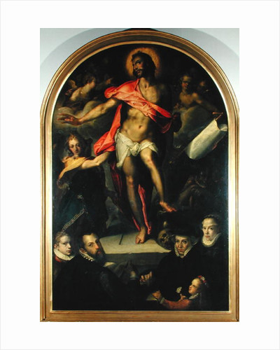 The Resurrection with Portraits of Nicolas Muller and his Family by Bartholomaeus Spranger