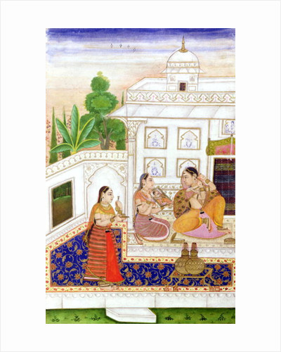 Vilaval Ragini: Woman at her Toilet by from Bikaner
