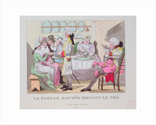 A Family from Gascony Drinking Tea by French School