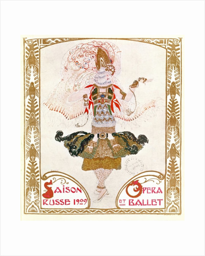 Cover of a programme for the Russian Season of Opera and Ballet by Leon Bakst
