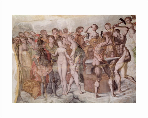 Tour de la Ligue. Members of the Medici Court as the Gods of Olympus (mural) by French School