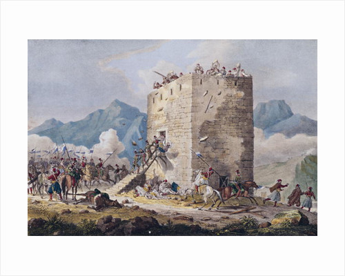 The Resistance of Forty Greek Rebels in a Tower in Thebes in 1833 by Georg Melchior Kraus