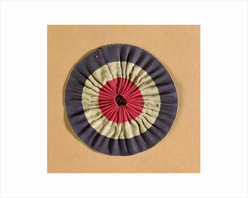 Tricolore rosette by French School