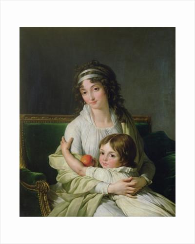 Portrait presumed to be Madame Jeanne-Justine Boyer-Fonfrede and her son, Henri by Francois Andre Vincent
