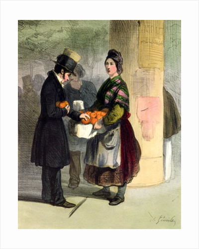The Orange Seller by Alfred Andre Geniole