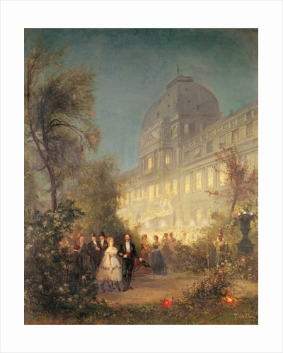 Evening Party at the Tuileries by Pierre Tetar van Elven