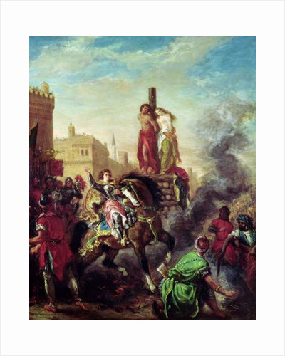 Olinda and Sophronia on the Pyre by Ferdinand Victor Eugene Delacroix