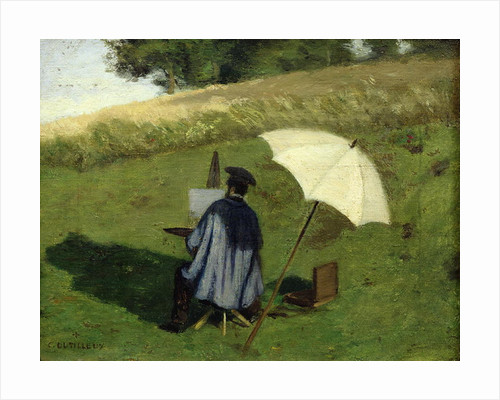 Desire Dubois Painting in the Open Air by Henri Joseph Constant Dutilleux