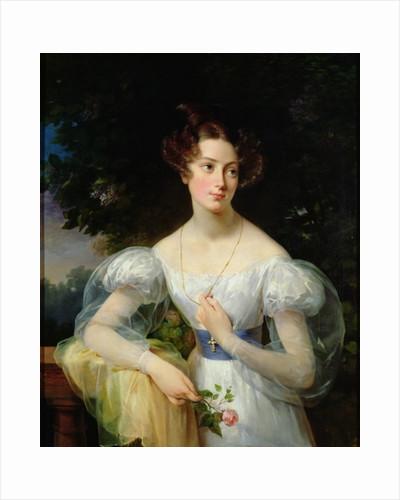 Portrait of Hortense Ballu, future Madame Alphonse Jacob-Desmalter by Antoinette Cecile Hortense Lescot Haudebourt
