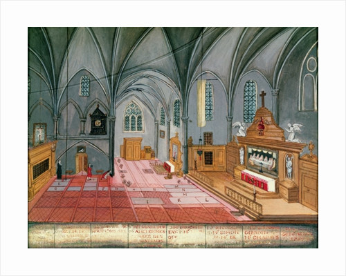 Interior of the Church by Louise Madelaine Cochin