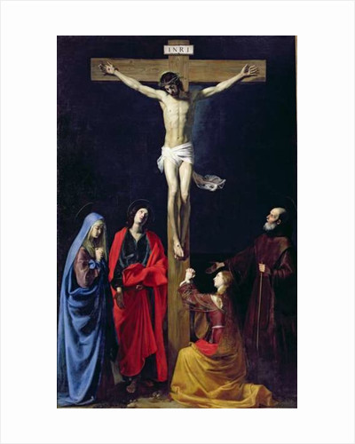 Christ on the Cross with the Virgin, Mary Magdalene, St. John and St. Francis of Paola by Nicolas Tournier