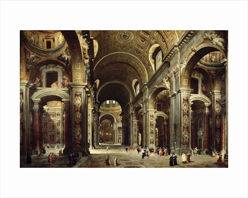 Cardinal Melchior de Polignac Visiting St. Peter's in Rome by Giovanni Paolo Pannini or Panini