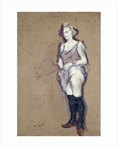 The Medical Inspection: Blonde Prostitute by Henri de Toulouse-Lautrec