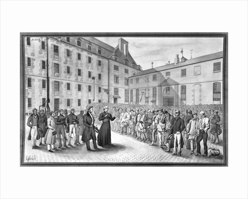 Ceremony before the departure of the convicts by Gabriel Cloquemin