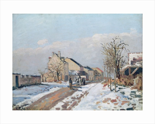 The Road from Gisors to Pontoise, Snow Effect by Camille Pissarro