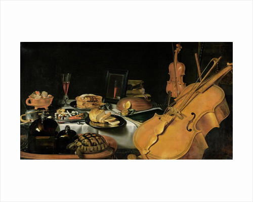 Still Life with Musical Instruments by Pieter Claesz