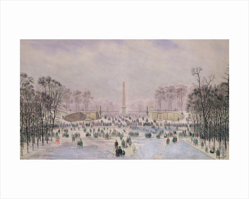 Skating in the Tuileries by Theodore Jung