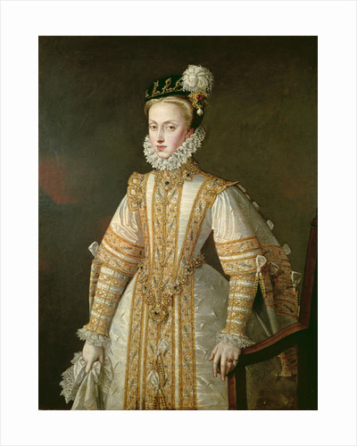 Anne of Austria Queen of Spain by Alonso Sanchez Coello