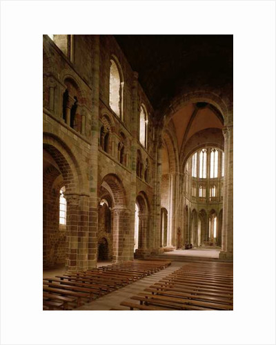 View of the nave from the choir, 1020-1135 by French School