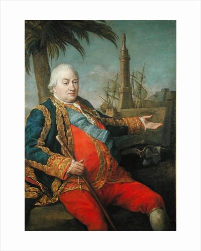 Pierre de Suffren-Saint-Tropez Vice Admiral of France by Pompeo Girolamo Batoni